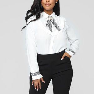 💎 Fashion Nova Bow Tie Top